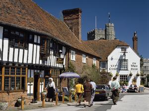 Village Square, Chilham, Kent by Peter Thompson