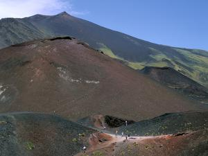 Volcanic Cones, Mount Etna, Sicily, Italy by Peter Thompson