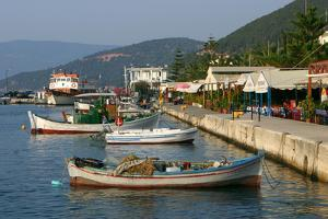Waterfront at Sami, Kefalonia, Greece by Peter Thompson