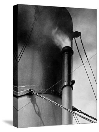 Abstract Close Up of Merchant Ship Steam Whistle