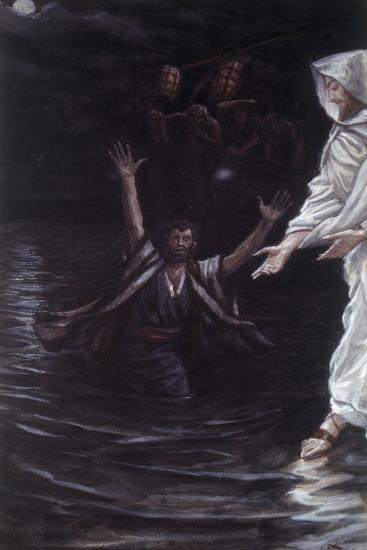 Peter Walks on the Sea-James Jacques Joseph Tissot-Giclee Print