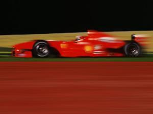 Formula One-Ferrari in Motion by Peter Walton