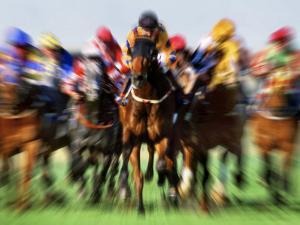 Horse Race in Motion by Peter Walton