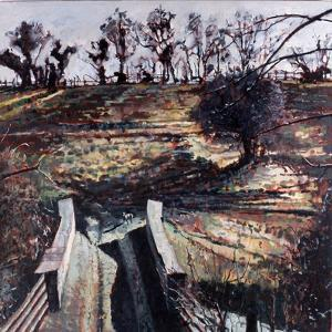 Bridge and Dog, 2000 by Peter Wilson