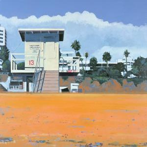 Lifeguard Hut on the Beach, Santa Monica, USA, 2002 by Peter Wilson
