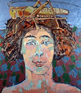 Locust Woman, 1994 by Peter Wilson