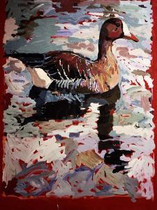White Fronted Goose, 1978 by Peter Wilson
