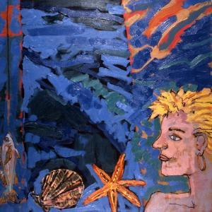 Woman and Starfish, 1989 by Peter Wilson
