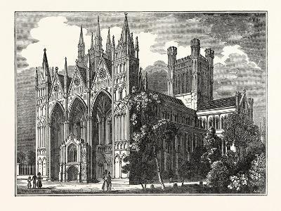 Peterborough Cathedral, Uk--Giclee Print