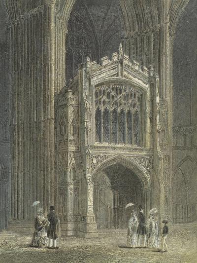 Peterborough Cathedral, View of the Porch, West End--Giclee Print