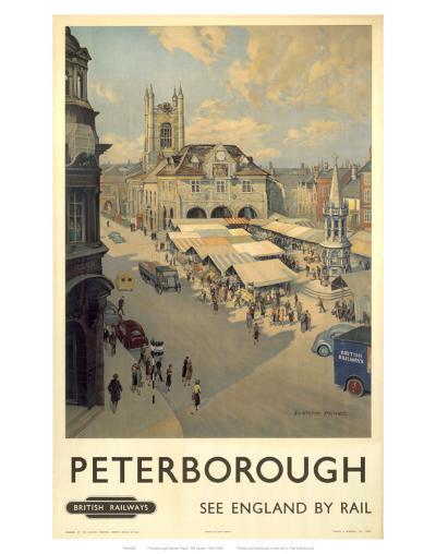 Peterborough View of Market--Art Print