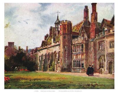 Peterhouse from Fellows Garden--Art Print