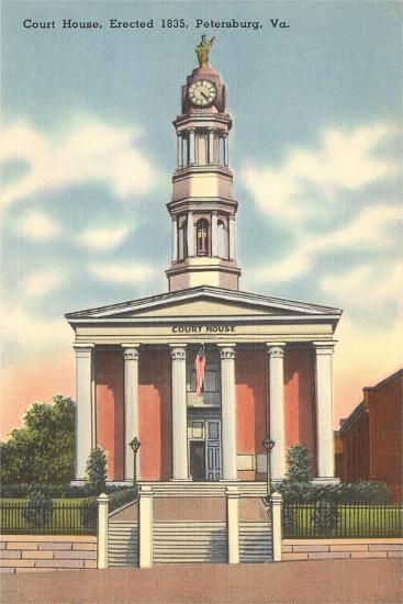 Petersburg Courthouse--Art Print
