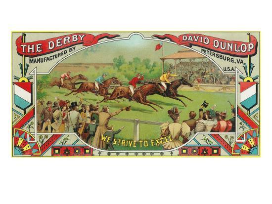 Petersburg, Virginia, The Derby Brand Tobacco Label-Lantern Press-Art Print