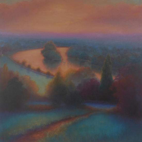 Petersham Autumn; View from Richmond Hill,-Lee Campbell-Giclee Print