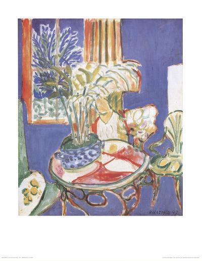 Petit Interieur Bleu (no text)-Henri Matisse-Art Print