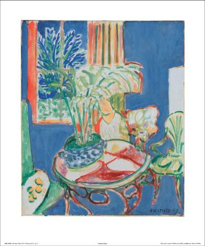Petit Interieur en Bleu, c.1947-Henri Matisse-Art Print