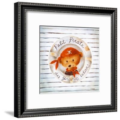 Petit Pirate des Grands Oceans-Joëlle Wolff-Framed Art Print