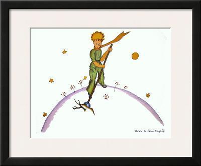Petit Prince au Travail-Antoine de Saint-Exup?ry-Framed Art Print