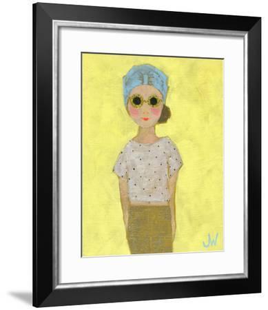Petite Fille en Beige-Joelle Wehkamp-Framed Giclee Print