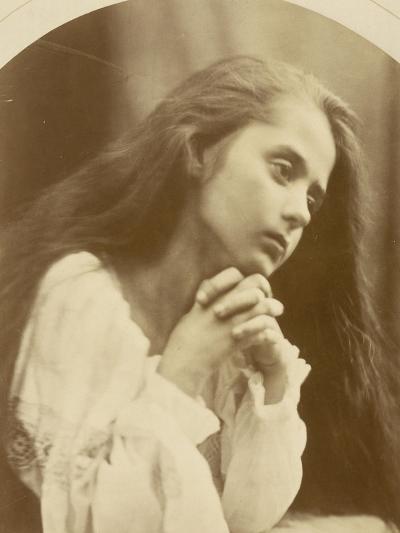 Petite fille en prière-Julia Margaret Cameron-Giclee Print