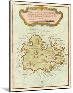Petite Map of Island of Antigua