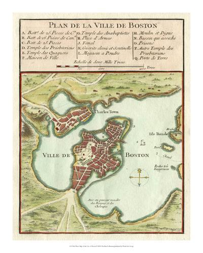 Petite Map of the City of Boston--Giclee Print