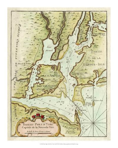 Petite Map of the Port of New York--Giclee Print