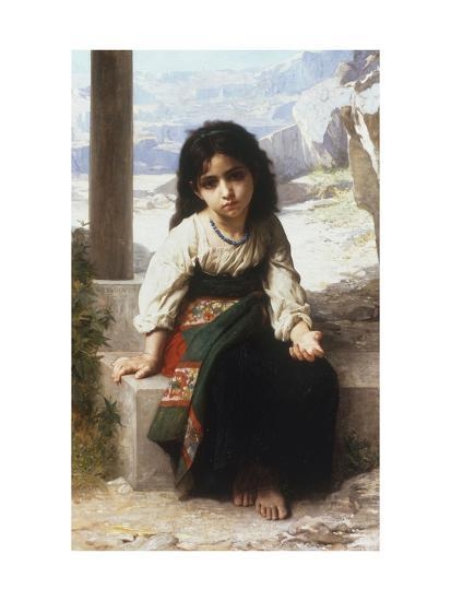 Petite Mendiante, 1880 Giclee Print by William Adolphe