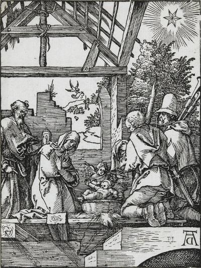 Petite passion - La naissance du Jésus-Albrecht D?rer-Giclee Print