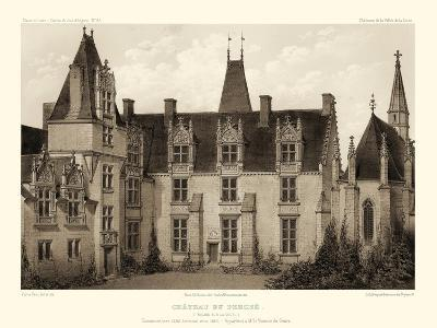 Petite Sepia Chateaux I-Victor Petit-Art Print