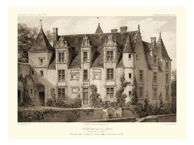 Petite Sepia Chateaux III-Victor Petit-Art Print