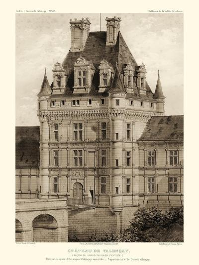 Petite Sepia Chateaux VIII-Victor Petit-Art Print