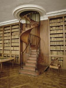 Petits Appartements : Bibliothèque particulière de l'Empereur. Décor de boiseries et dessus de