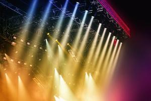 Colorful Stage Lights at Concert by Petr Jilek