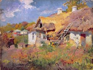 Ukrainian Cottages, 1906 by Petr Levchenko
