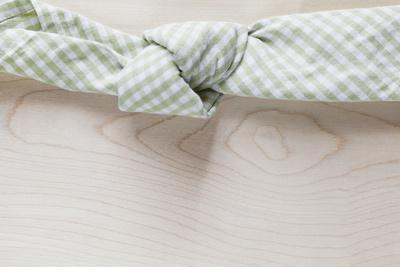 Cloth Napkin with Node on Wood