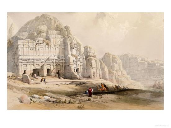 Petra, March 8th, 1839-David Roberts-Giclee Print