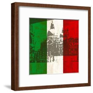 Italian Flag And Venice by Petrafler