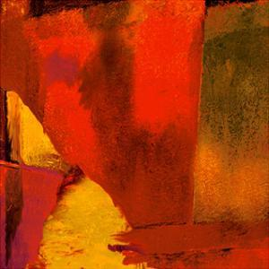 Triptych Red Wassily I by Petro Mikelo