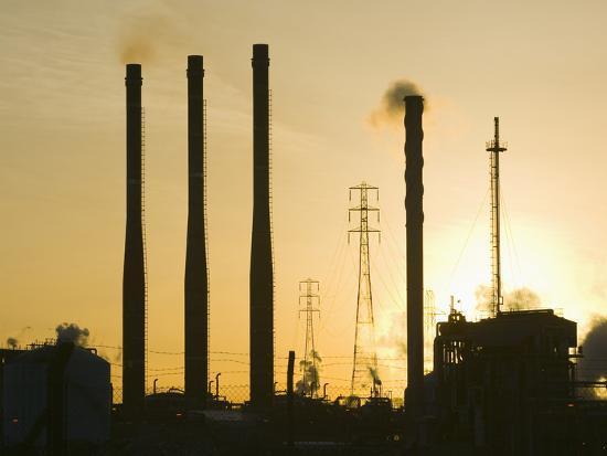 Petrochemical Plant, Teeside, United Kingdom-Ashley Cooper-Photographic Print