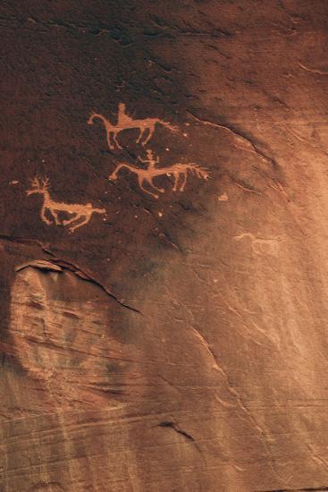 Petroglyph, Canyon De Chelly National Monument, Arizona, USA-Michel Hersen-Photographic Print