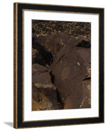 Petroglyph National Monument, Petroglyphs, New Mexico, USA--Framed Giclee Print