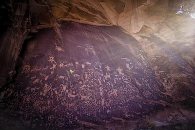 Petroglyphs on Newspaper Rock in Utah-Keith Ladzinski-Photographic Print
