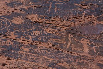 Petroglyphs, Petroglyph Canyon, Valley of Fire State Park, Nevada, USA-Michel Hersen-Photographic Print