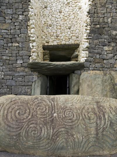 Petrogyphs at the Entrance of Newgrange, a 5000 Year Old Passage Tomb-Rich Reid-Photographic Print