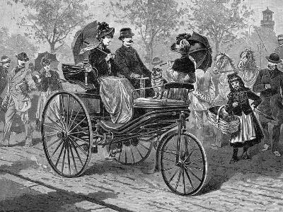 Petrol-Driven Car by Benz and Co., Capable of 16 KM Per Hour, C1890S--Giclee Print