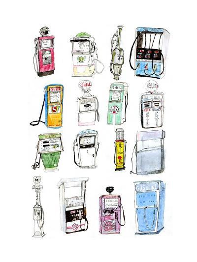 Petrol Pumps-Pat Macdonald-Giclee Print