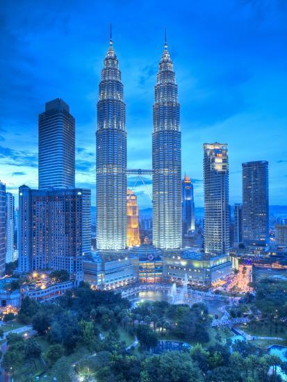 Petronas Towers And Klcc Kuala Lumpur Malaysia Photographic Print By Jon Arnold Art Com