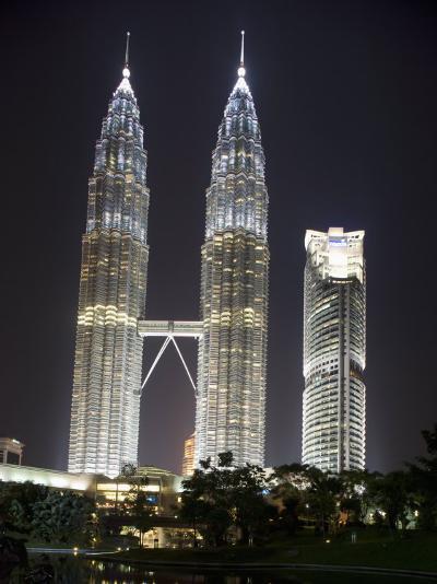 Petronas Towers at Night, Kuala Lumpur, Malaysia, Southeast Asia-Angelo Cavalli-Photographic Print